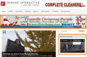 Trussville Tribune (sponsored content in orange)